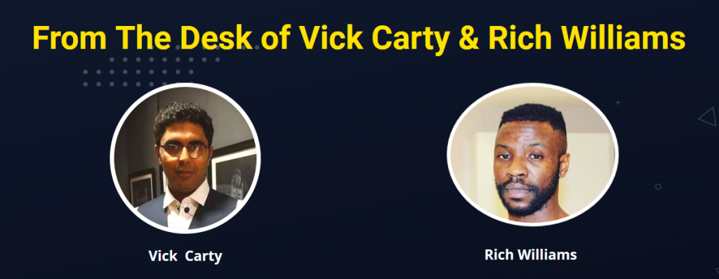 TUBE PROFIT SNIPER founders - Vicky Carty & Rick Williams